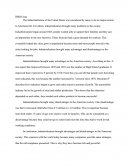 Dbq Essay - Industrialization of the United States