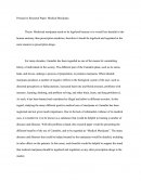 Persuasive Research Paper: Medical Marijuana