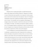 Business Management Essay