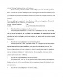 Critical Thinking Worksheet: Crime and Punishment