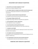 Marketing Audit Checklist of Questions