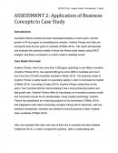 Application of Business Concepts to Case Study
