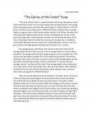 The Genius of the Crowd Essay