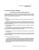 Job Description and Recruiting Strategies Worksheet