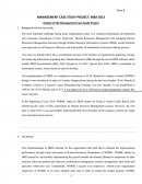 Outline of the Management Case Study Project
