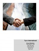 Tyco International Ltd. Research Paper