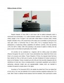 Military Threats of China